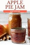 Two jars of apple pie jam in canning jars.