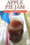 Jar of apple pie jam with headspace tool in the jar.