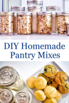 DIY Homemade Pantry Baking Mixes in Mason Jars on counter