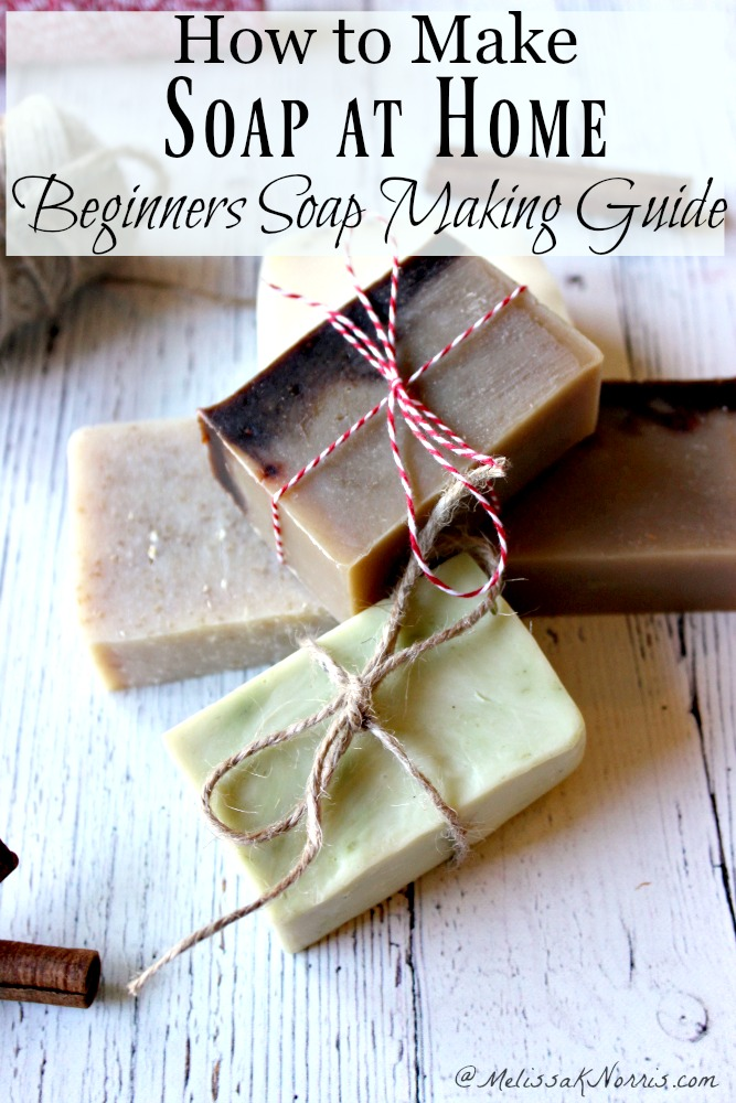 5 bars of soap with decorative twine tied around them as gifts.