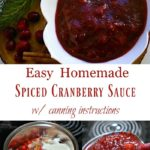 homemade cranberry sauce in bowl