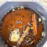 Pinterest pin for homemade chai tea concentrate (and dirty chai latte recipe).