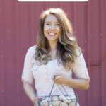 Pinterest pin about homesteading myths. Photos of a woman holding a basket of farm fresh eggs.