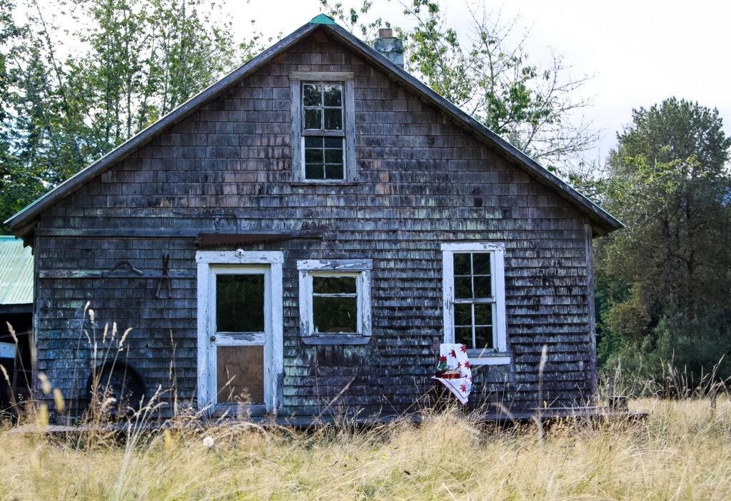 An old homestead house.