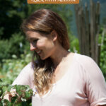 Pinterest pin for a gardening and homesteading Q & A. Images of a woman in the garden.